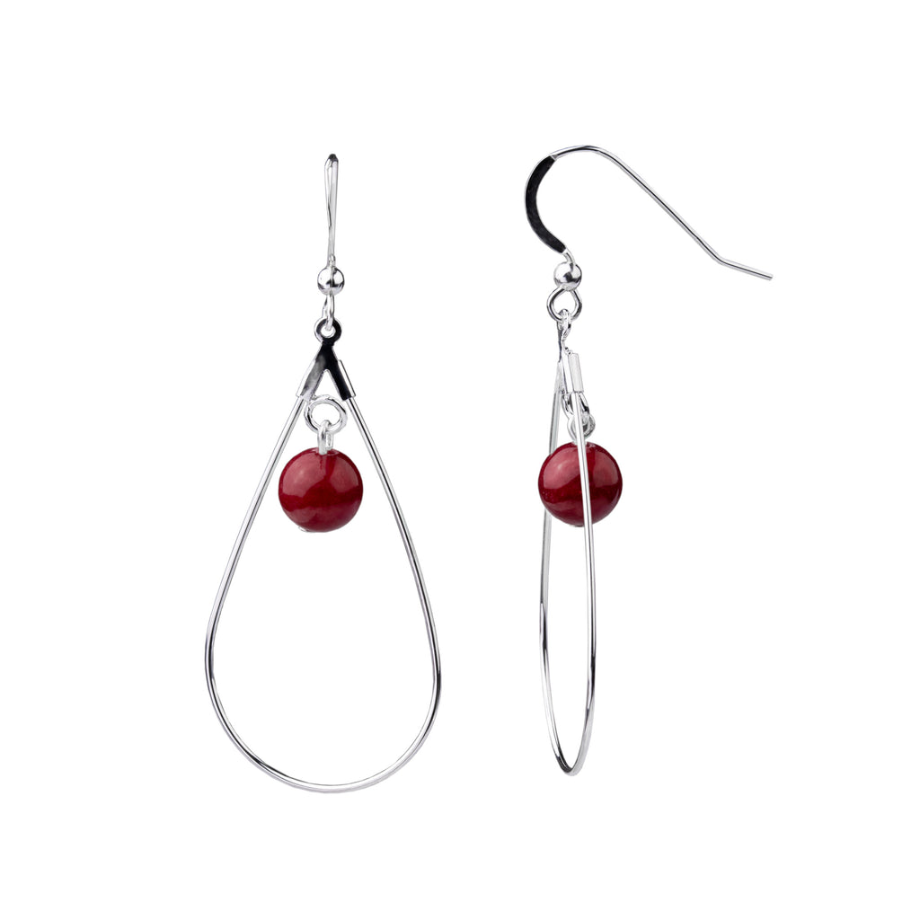 Earring | Teardrop | Bordeaux Jade