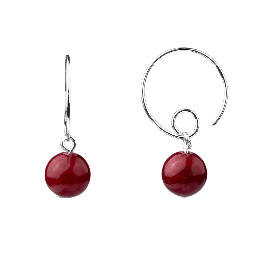 Earring | Open Loop | Bordeaux Jade