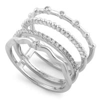 Ring - CZ Multi Stacker |  Sterling Silver