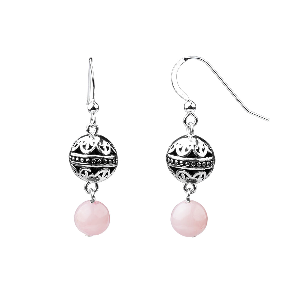 Earring | Bali | Rose Quartz