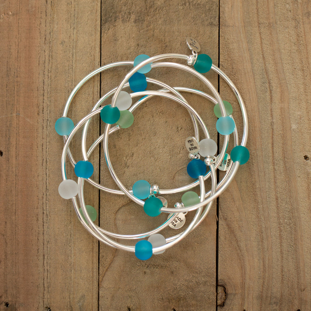 Wish | Bracelet | Sea Glass-Aquamarine