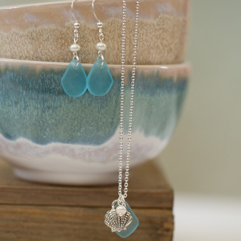 Wish | Bracelet | Sea Glass-Mediterranean Blue