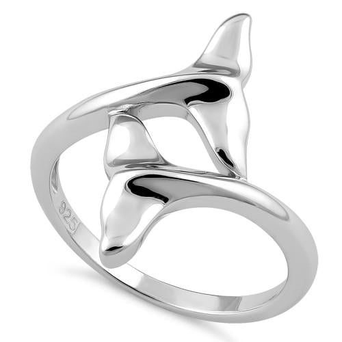 Ring| Dolphin Fins |  Sterling Silver