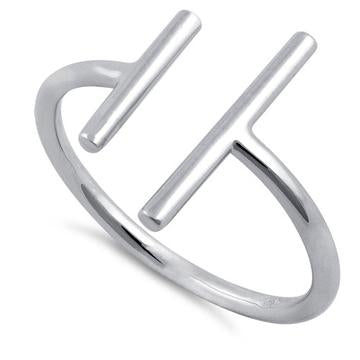 Ring| Double Bar | Sterling Silver