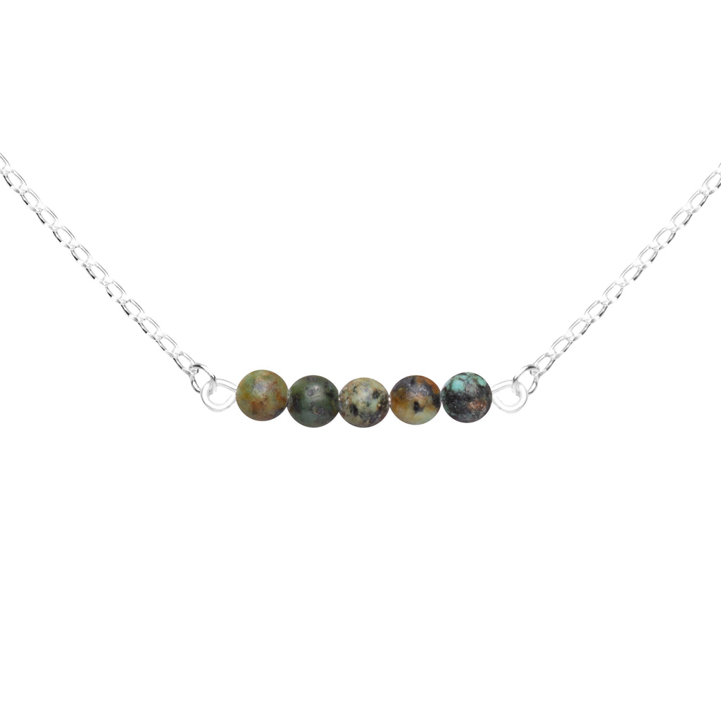 Stone Bar Necklace | African Turquoise