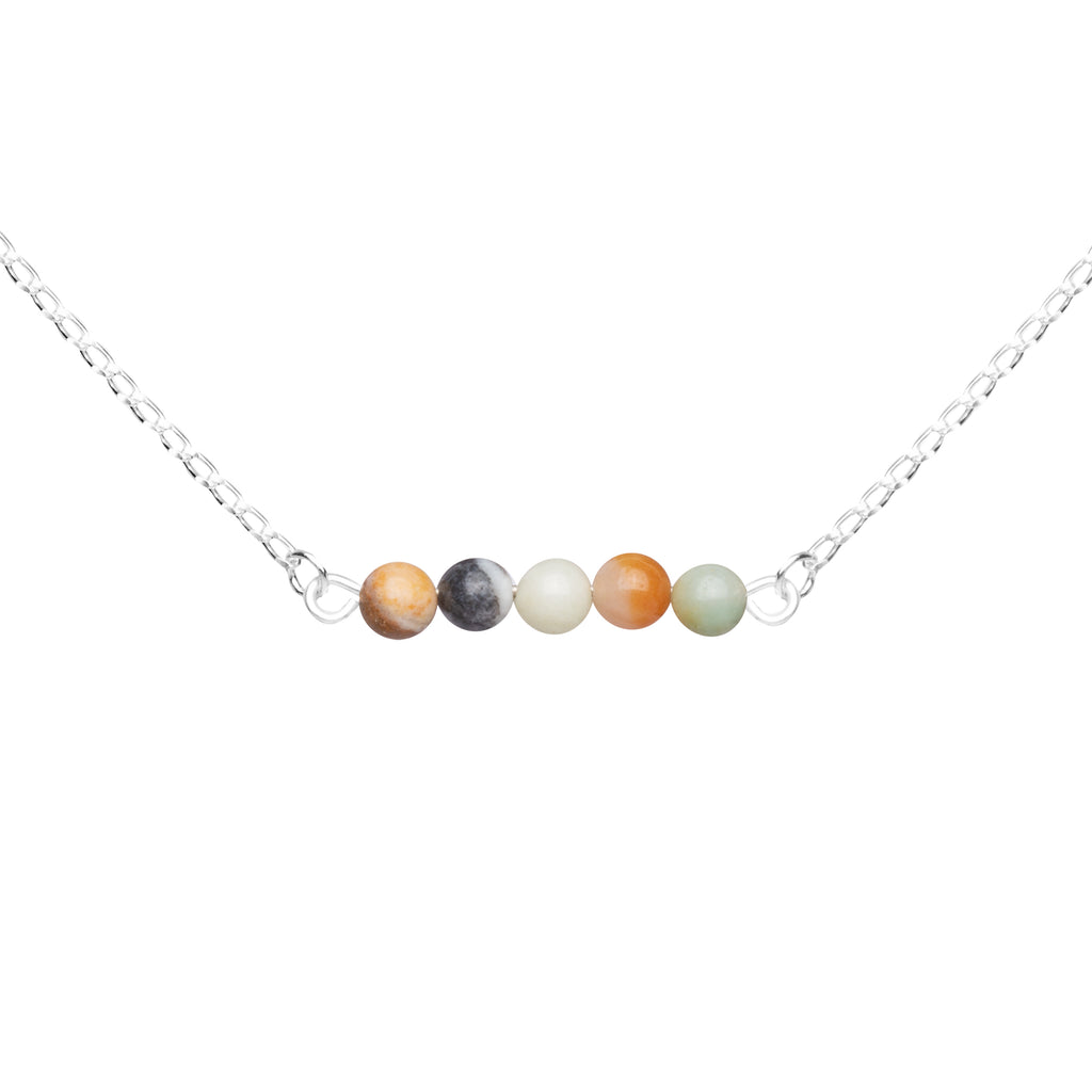Stone Bar Necklace | Amazonite