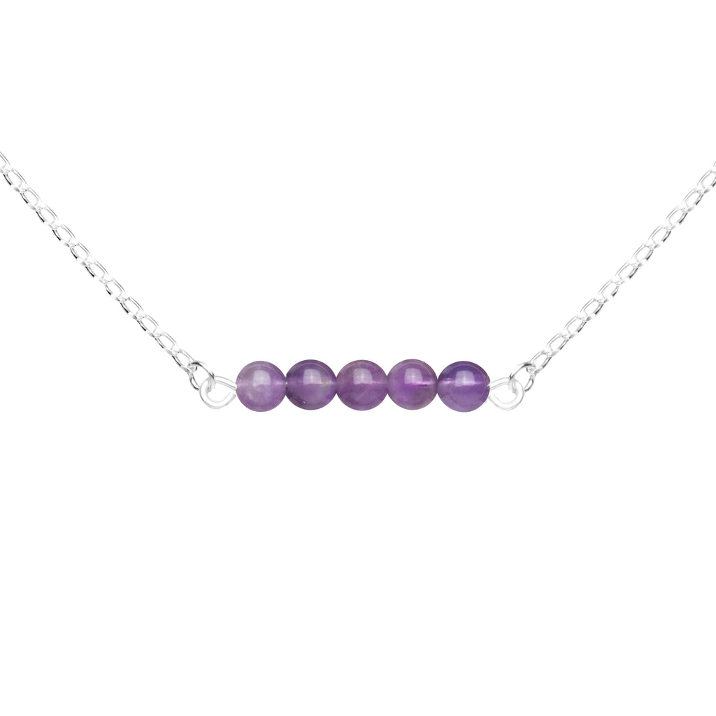 Stone Bar Necklace | Amethyst