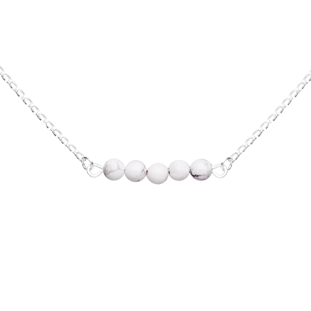 Stone Bar Necklace | Howlite - Calmness