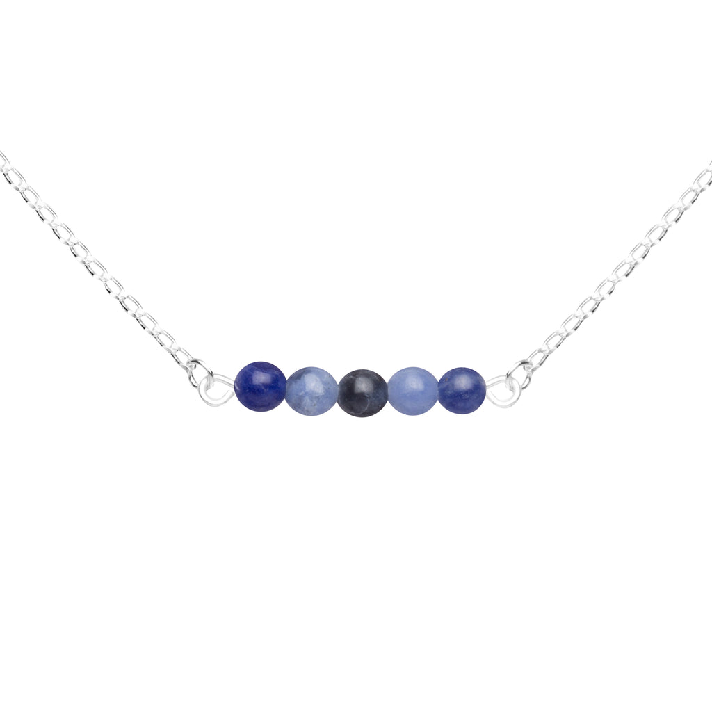 Stone Bar Necklace | Sodalite