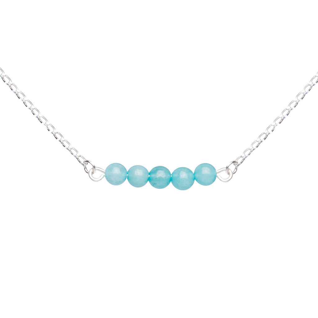 Stone Bar Necklace | Tiffany Blue Agate