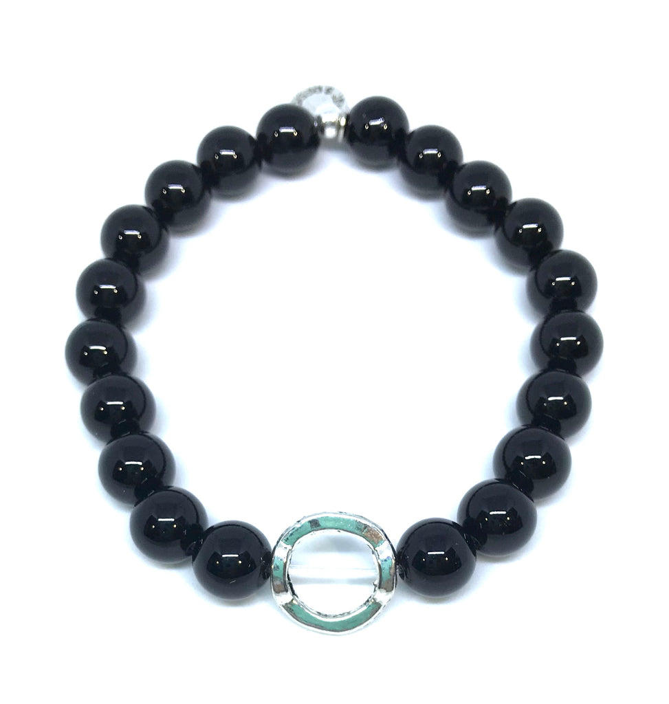 Stone Beaded Bracelet Station | Onyx-Intention (Shown)