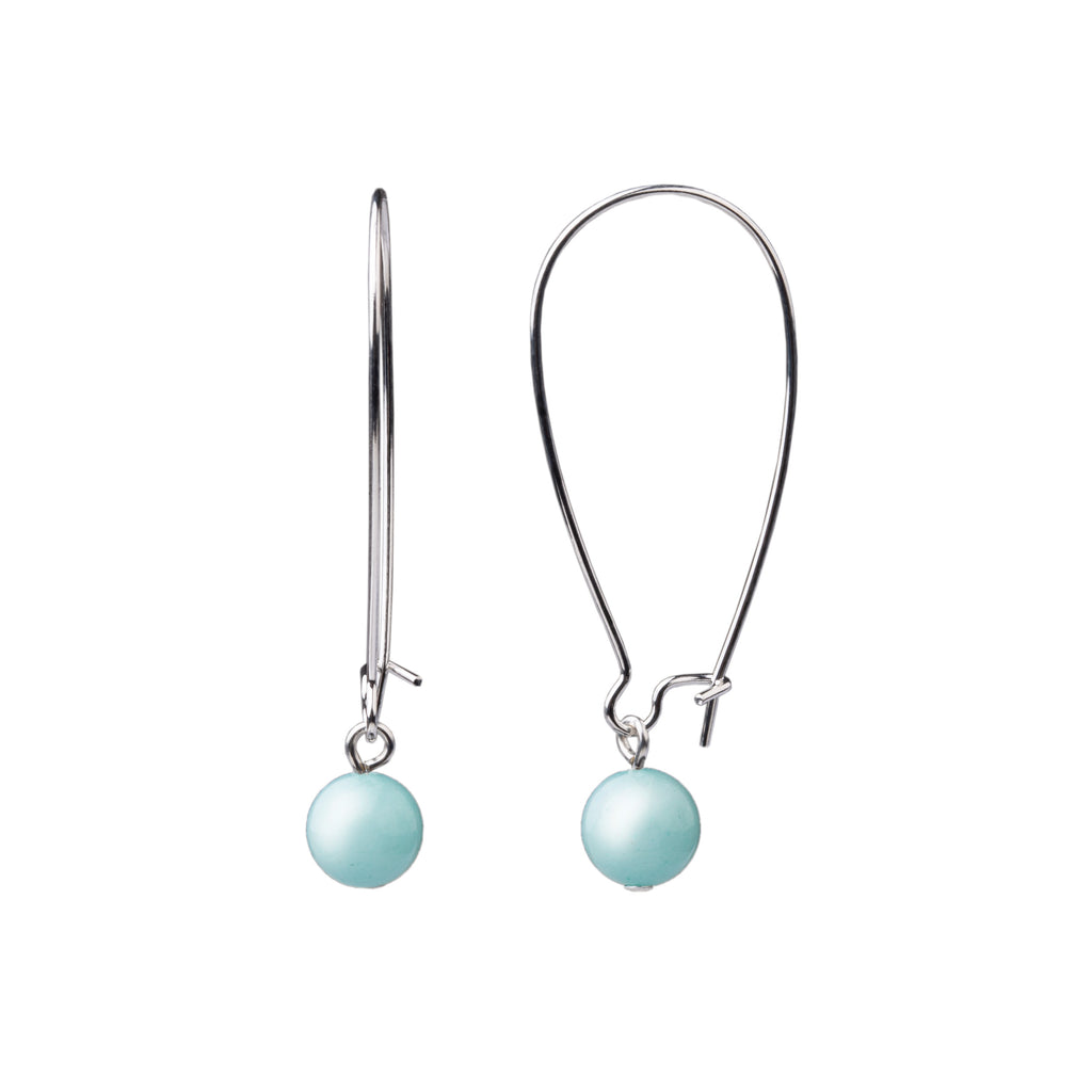 Earring | Kidney Wire - Large  | Tiffany Blue Agate