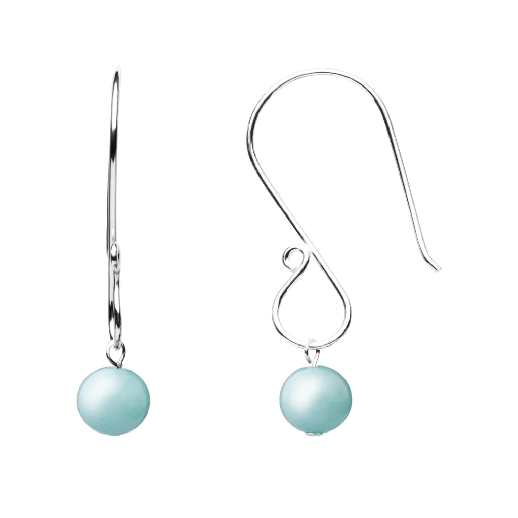 Earring | S Loop | Tiffany Blue Agate