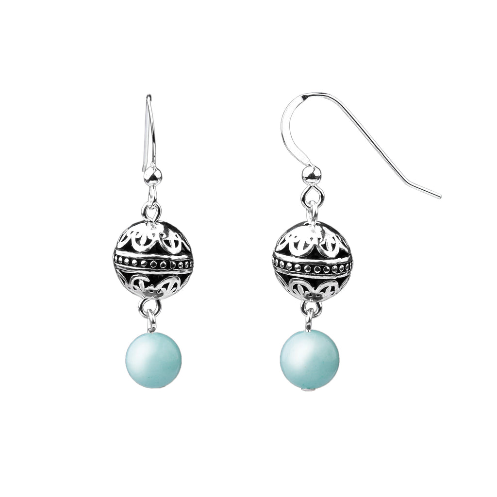 Earring | Bali | Tiffany Blue Agate