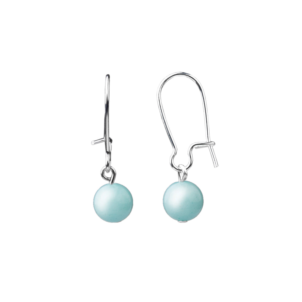 Earring | Kidney Wire - Small  | Tiffany Blue Agate