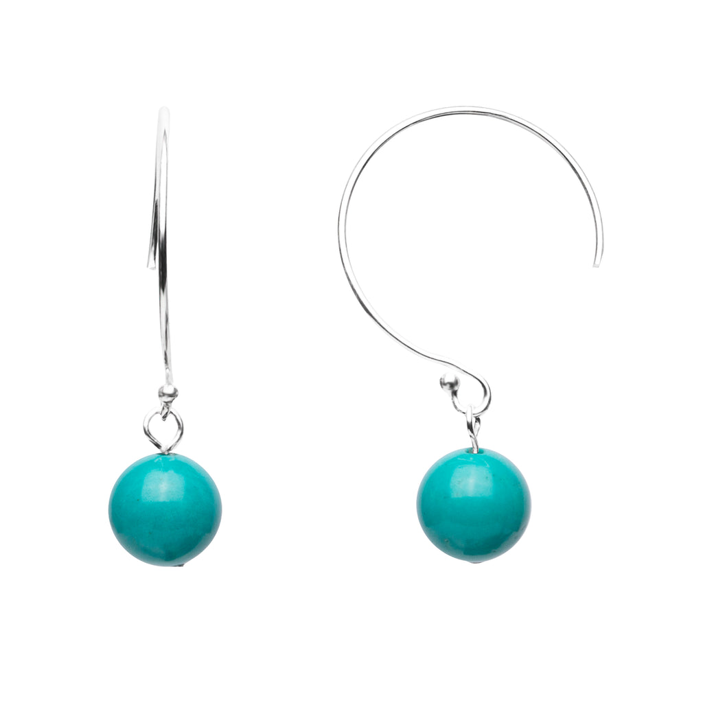 Earring | Curved Loop | Turquoise