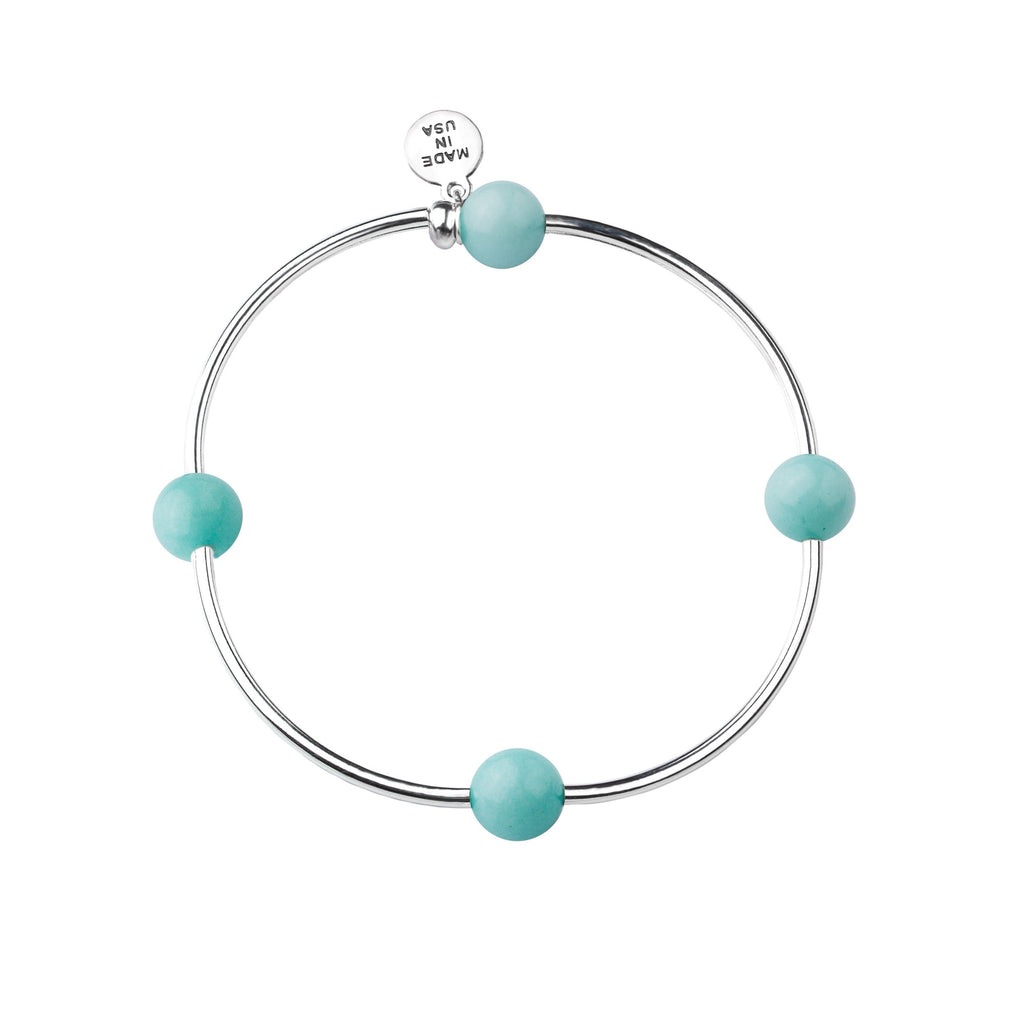 Wish | Bracelet | Tiffany Blue - Stone
