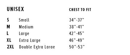 Bella Canvas Unisex T Shirt Sizing Chart