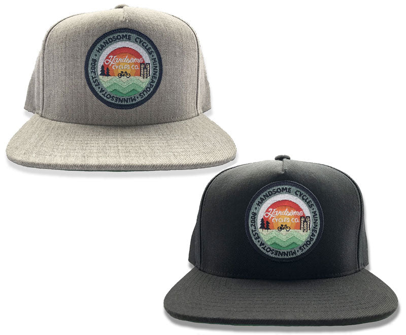 91c9a6a073466 Handsome Cycles Classic Snapback 13 Color Patch Hat