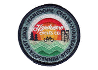 Handsome Cycles Circle Landscape 13 Color Embroidered Patch