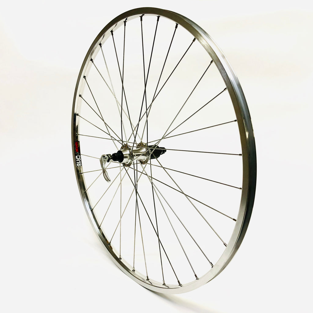 Handsome Wheel Set 700c Sun CR18 / Sealed Bearing 11 Speed Hub Silver
