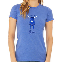 Bike Babe Unisex Fit T-Shirt Blue