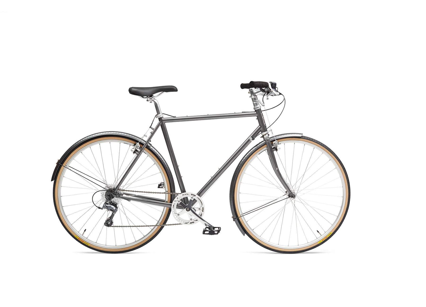 Handsome Cycles Mud Butler 700c Hammered Aluminum Charcoal Fenders