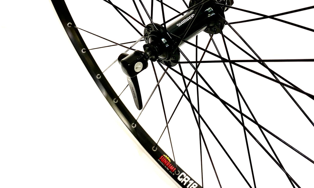 Handsome 700c Front Wheel Sun CR18 Shimano RS400 Black