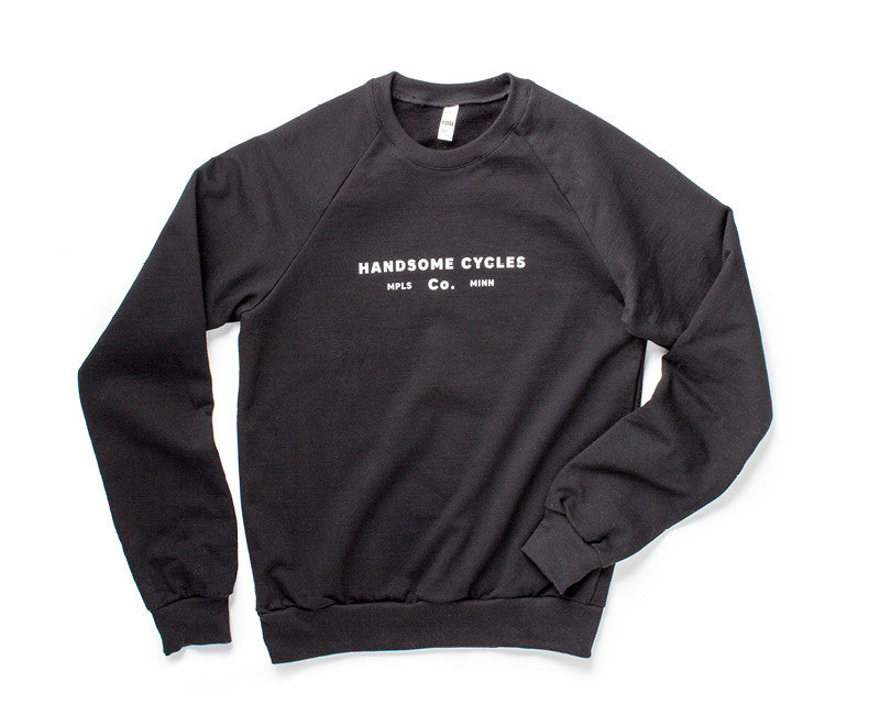 Handsome Cycles Font Crew Sweatshirt