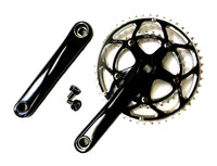 Compact Double Crank Set 48 / 34 Chainrings Black