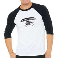 Northwoods Commuter Baseball T-Shirt Black / White