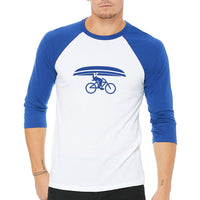 Northwoods Commuter Baseball T-Shirt Royal / White