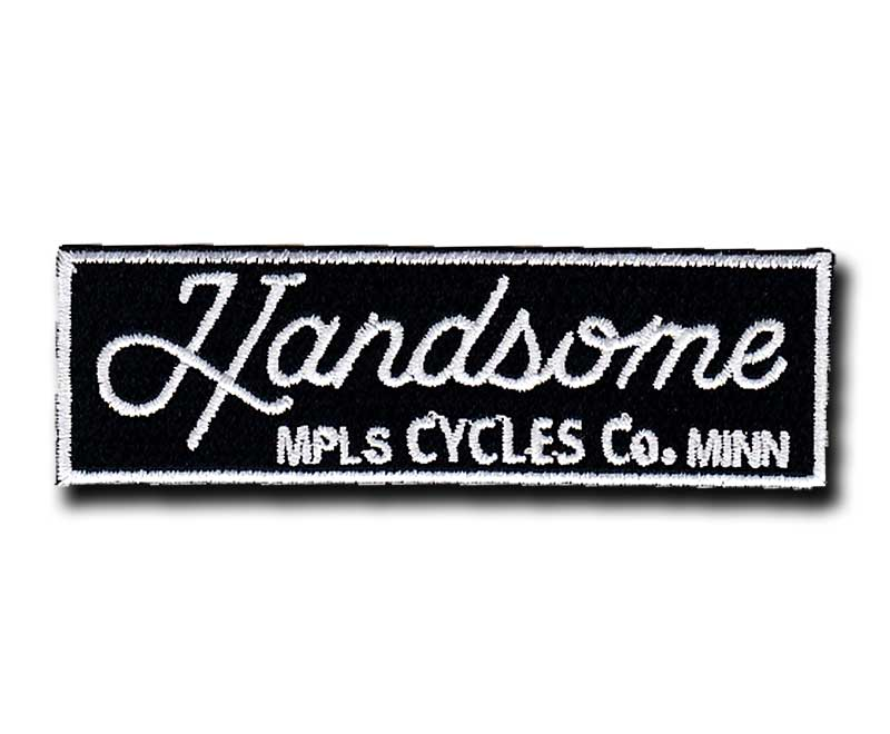 Handsome Cycles Rectangle Embroidered Patch