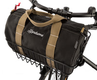 Front Wire Bicycle Basket And North St. Duffle Bag Combo