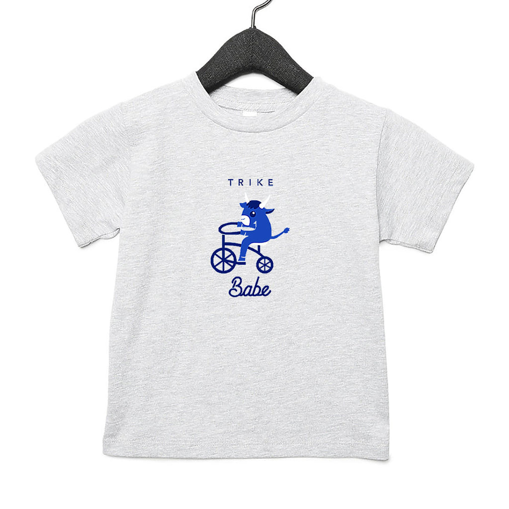 Trike Babe Toddler T-Shirt Grey