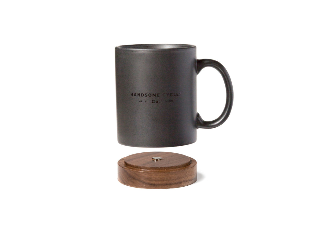 Handsome Cycles Coffee Mug with Removable Wooden Base
