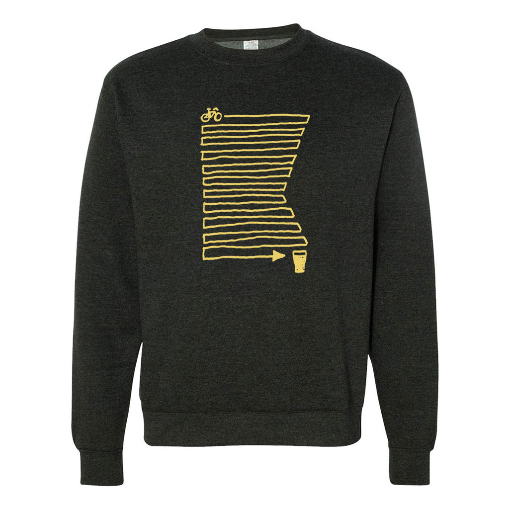 Zig Zag MN Crew Sweatshirt Charcoal Heather