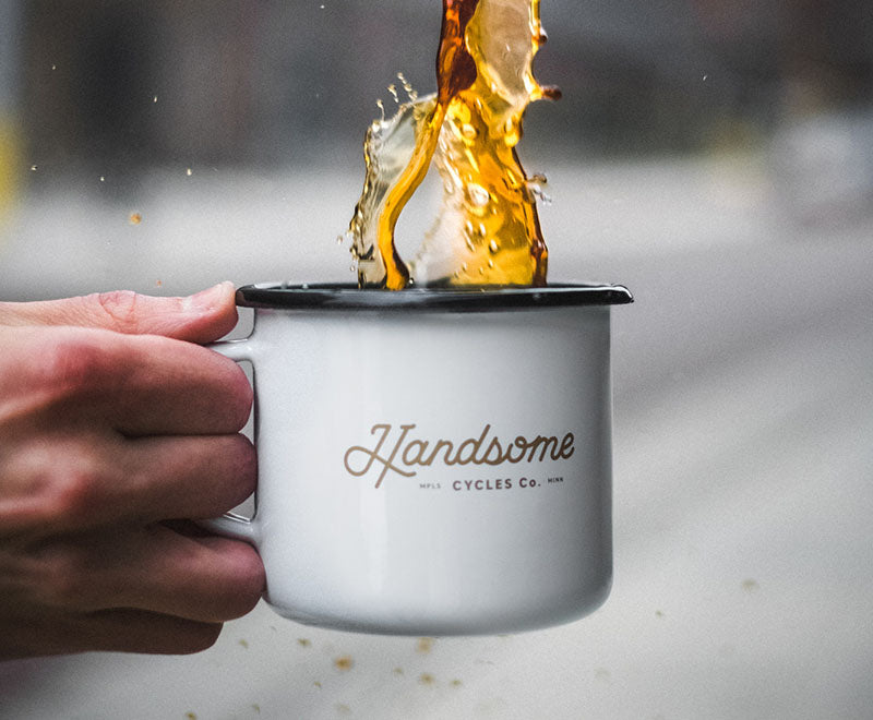 Handsome Cycles Enamel Camp Mug