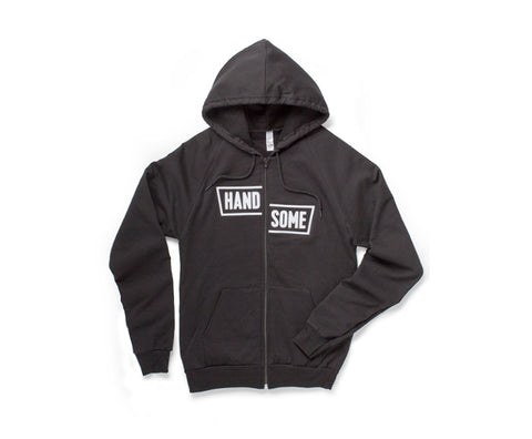 BLOCK ZIP HOODIE EMBROIDERED