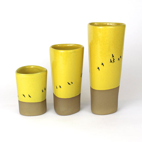 Vase | Yellow with Birds