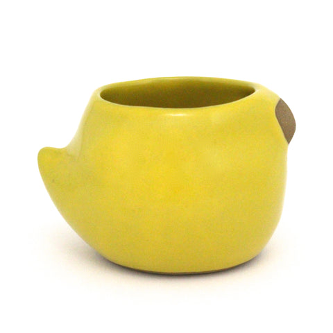 Large Rotund Bird Cup | Canary Yellow