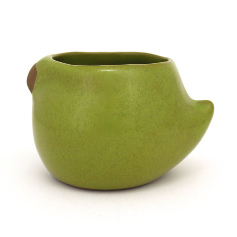 Large Rotund Bird Cup | Parrot Green