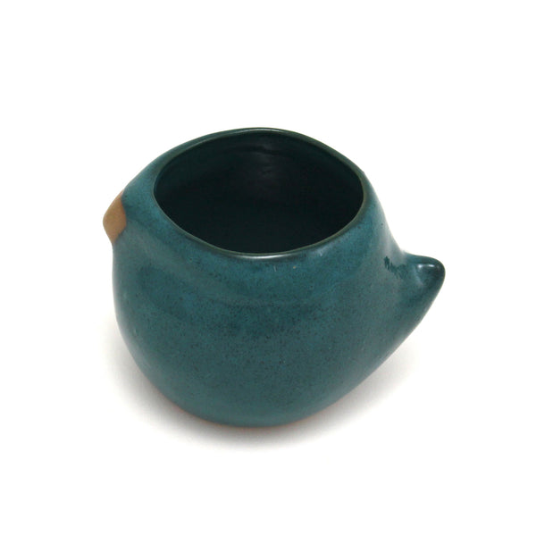 Large Rotund Bird Cup | Peacock Teal