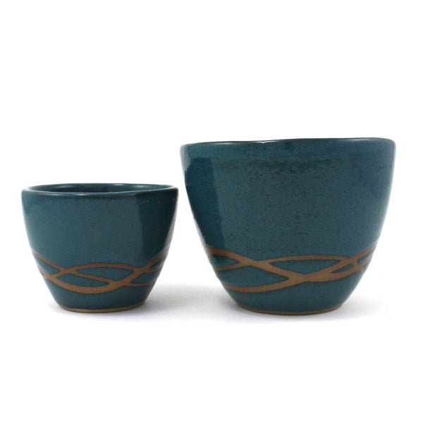 Nesting Bowls | Waves | Teal