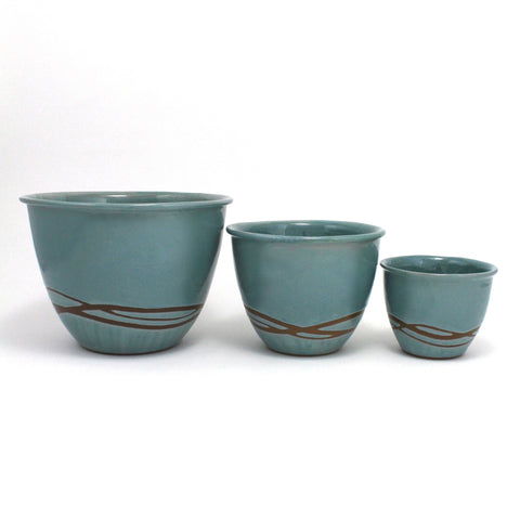 Nesting Bowls Set of 3 | Waves | Blue