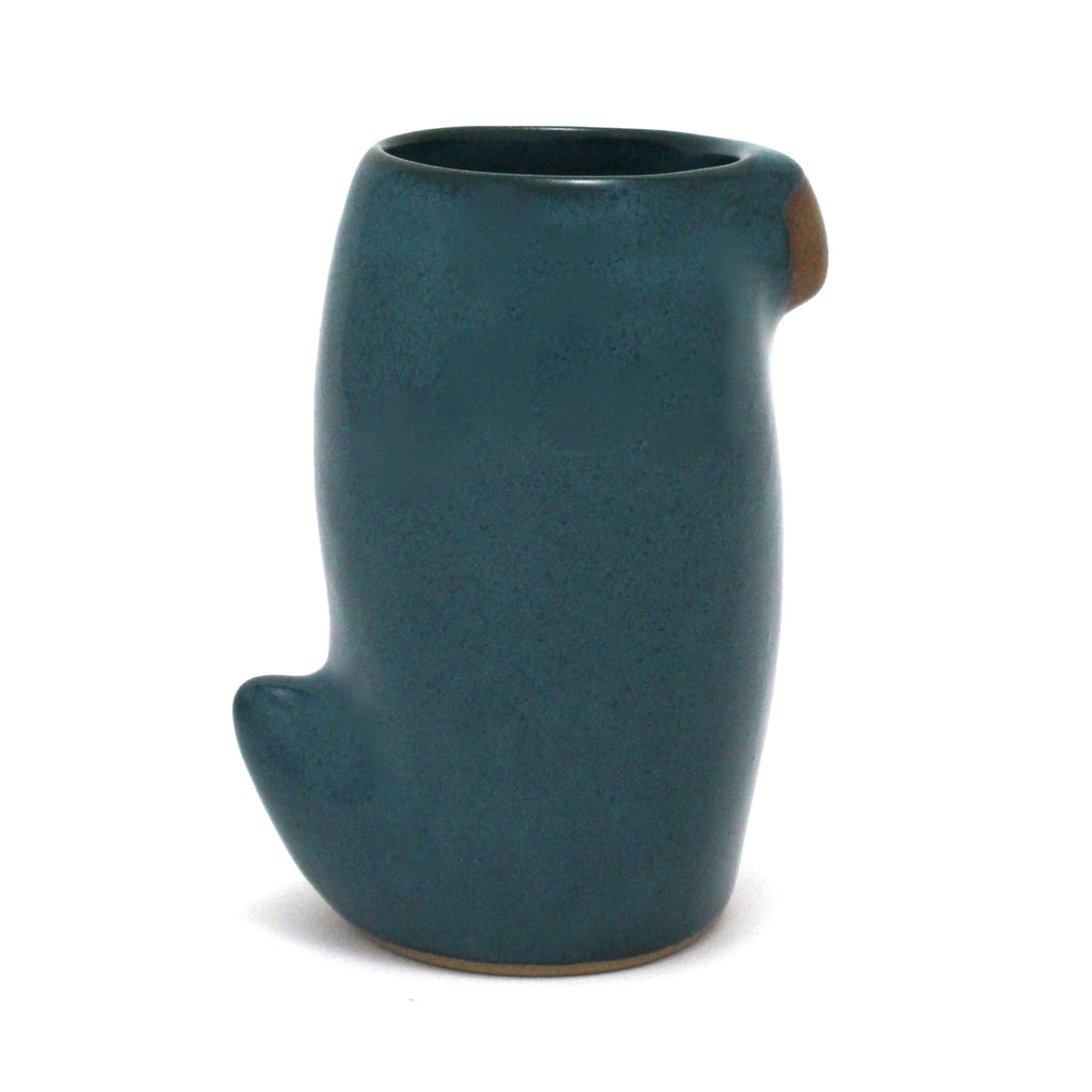 Large Slender Bird Cup | Peacock Teal