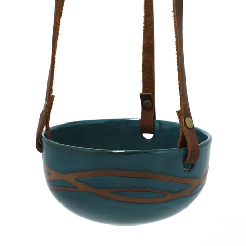 Hanging Pot | Waves | Teal