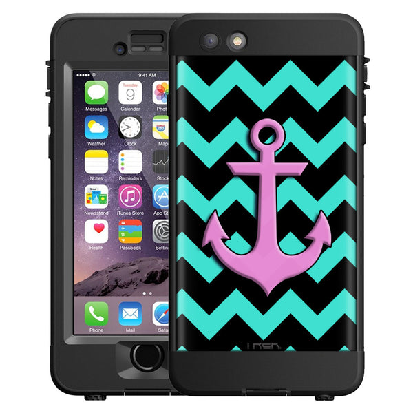 Skin decal for lifeproof n 252 252 d apple iphone 6 case anchor on chevron