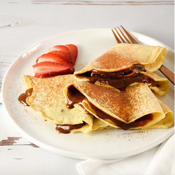 PALEO AND KETO CREPES WITH PHAT FUDGE