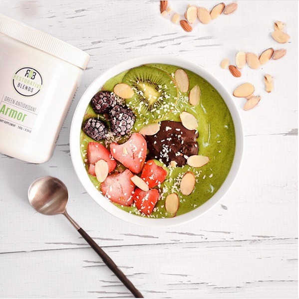 PALEO ANTIOXIDANT GREEN SMOOTHIE BOWL